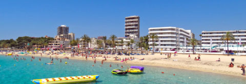 Beautiful beaches in Magaluf